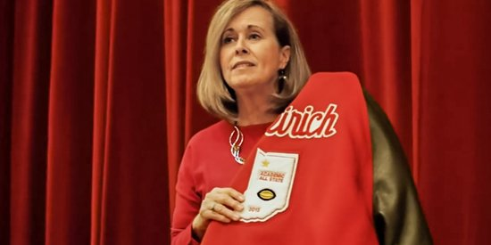 Suicide prevention advocate Leslie Weirich in a video from Oaklawn Psychiatric Center